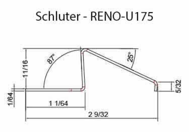 Schluter® RENO-U Tile Floor Edging Profile large image 12