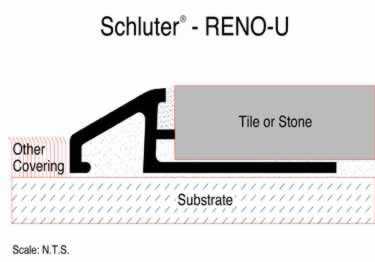 Schluter® RENO-U Tile Floor Edging Profile large image 2
