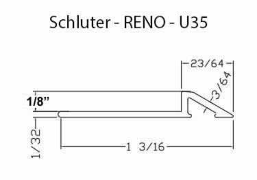 Schluter® RENO-U Tile Floor Edging Profile large image 7