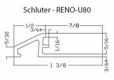 Schluter® RENO-U Tile Floor Edging Profile large image 8