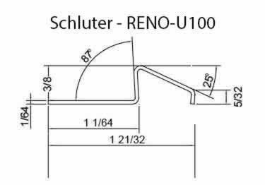 Schluter® RENO-U Tile Floor Edging Profile large image 9