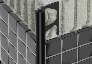 Schluter®-Rondec Wall and Countertop Profile - Black Anodized