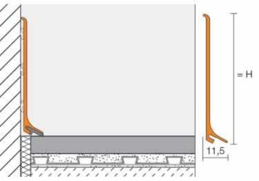 Schluter 174 Designbase Sl Tile Wall Base