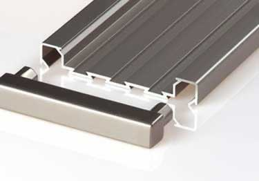 Schluter® QUADEC-FS Double Rail Strip Tile Edging - Aluminum large image 11