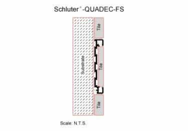 Schluter® QUADEC-FS Double Rail Strip Tile Edging - Aluminum large image 6
