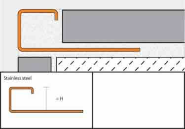 Schluter®-QUADEC Wall | Countertop Stainless Steel Edging large image 6
