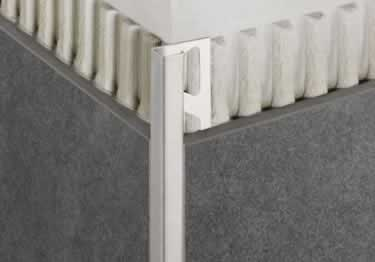 Schluter®-QUADEC Wall | Countertop Stainless Steel Edging