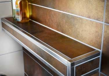 Schluter® QUADEC Aluminum Wall | Countertop Edging large image 2
