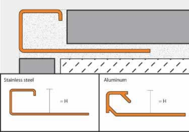 Schluter® QUADEC Aluminum Wall | Countertop Edging large image 6