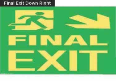 Exit Signs-NYC and California Code Rated large image 11