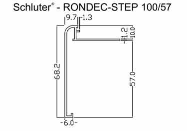 Schluter®-RONDEC STEP Stairs and Countertop Profile - Aluminum large image 11