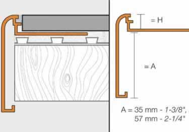 Schluter 174 Rondec Step Stairs And Countertop Profile Aluminum