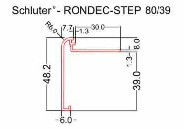 Schluter®-RONDEC STEP Stairs and Countertop Profile - Aluminum large image 7