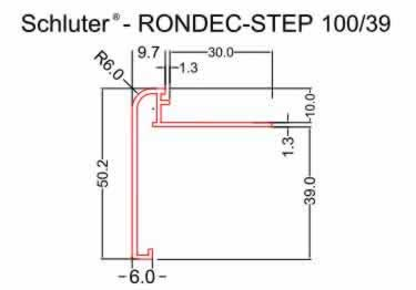 Schluter®-RONDEC STEP Stairs and Countertop Profile - Aluminum large image 8