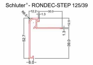 Schluter®-RONDEC STEP Stairs and Countertop Profile - Aluminum large image 9