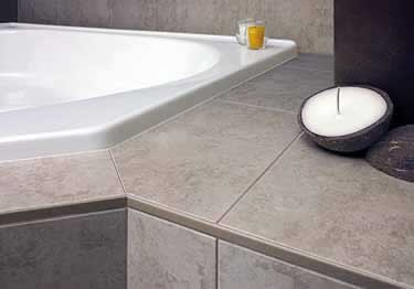 Schluter®-JOLLY - Tile Edging Wall or Floor Profile - Color Coated Aluminum&PVC large image 1