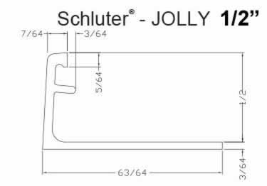 Schluter®-JOLLY - Tile Edging Wall or Floor Profile - Color Coated Aluminum&PVC large image 11