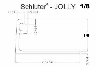 Schluter®-JOLLY - Tile Edging Wall or Floor Profile - Color Coated Aluminum&PVC large image 13