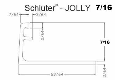 Schluter®-JOLLY - Tile Edging Wall or Floor Profile - Color Coated Aluminum&PVC large image 14