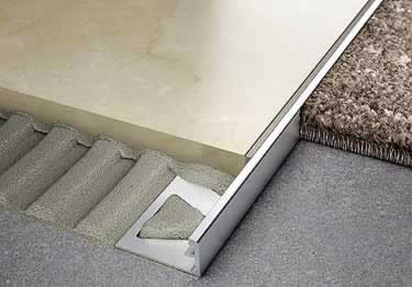 Schluter®-JOLLY - Tile Edging Wall or Floor Profile - Color Coated Aluminum&PVC