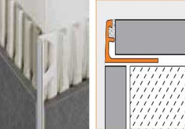 Schluter®-JOLLY - Tile Edging Wall or Floor Profile - Color Coated Aluminum&PVC large image 7