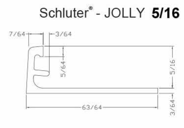 Schluter®-JOLLY - Tile Edging Wall or Floor Profile - Color Coated Aluminum&PVC large image 9