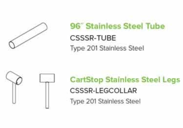 McCue CartStop Stainless Steel Rail large image 8