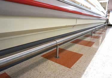 McCue CartStop Stainless Steel Rail