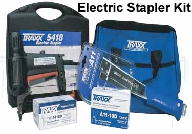 Carpet Staples and Stapler by TRAXX large image 6