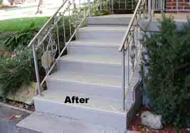Interior and Exterior Plastic Composite Stair Treads large image 1