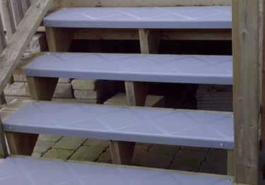Interior and Exterior Plastic Composite Stair Treads