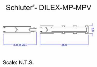 Schluter®-DILEX-MP and MPV - Movement Joint Profile large image 10