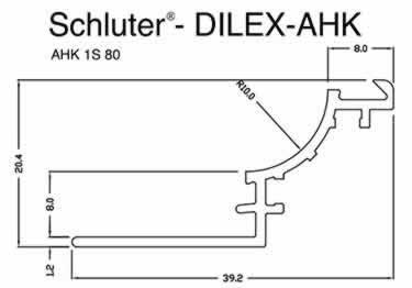 Schluter® DILEX-AHK | Cove-shaped Profiles, Corners, and End Cap large image 14
