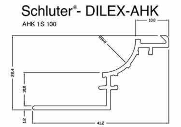 Schluter® DILEX-AHK | Cove-shaped Profiles, Corners, and End Cap large image 15