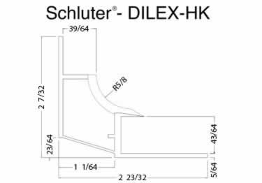 Schluter® DILEX-HK | Curved Profile, Corners, and End Cap large image 13