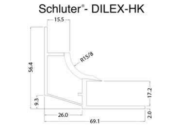 Schluter® DILEX-HK | Curved Profile, Corners, and End Cap large image 14