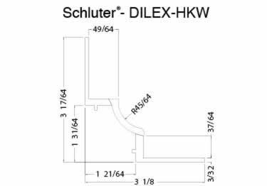 Schluter® DILEX-HKW | Curved Profile, Corners, and End Cap large image 10