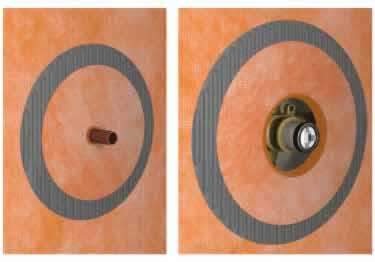 Schluter® Waterproof Pipe Seal KERDI SEAL PS/MV&KERDI-KM