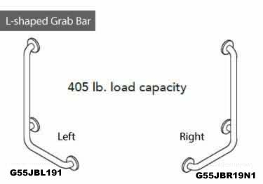 Grab Bars | Stainless Steel Angled and Folding  large image 12