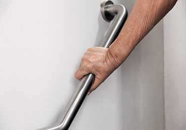 Grab Bars | Stainless Steel Angled and Folding  large image 2
