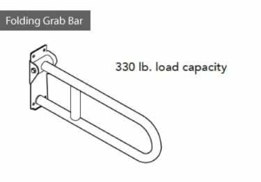 Grab Bars | Stainless Steel Angled and Folding  large image 9