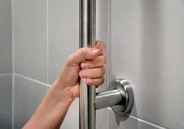 Grab Bars | Stainless Steel Floor To Wall large image 5