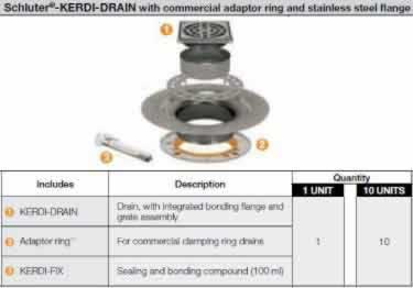Schluter® KERDI DRAIN AR Adaptor Kits - Commercial  large image 9