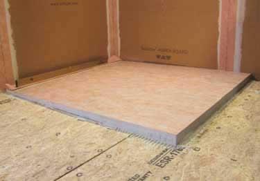 "Schluter Kerdi Shower LS Tray 39/"" x 39/"" KSL1000S Wall Linear Drain Placement"