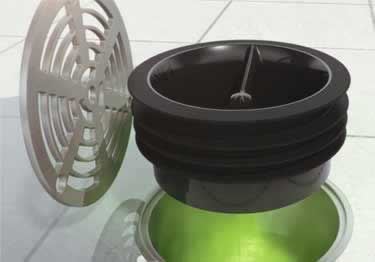 Green Drain One Way Flow Trap |  Nilodor Enzyme Cleaner