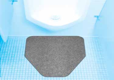 Urinal Mat HD Absorbent with Grip Backing large image 5