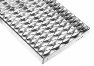 Metal Safety Stair Treads Grip Strut Serrated Diamond Pattern large image 6