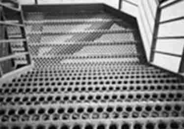 Metal Safety Stair Treads Perf-O Grip® | Holes and Buttons large image 1