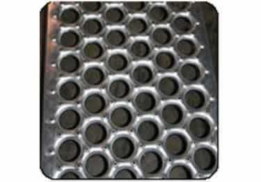 Metal Safety Stair Treads Perf-O Grip® | Holes and Buttons large image 6