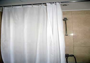 6/pk Commercial Shower Curtains | Button-Hole Hook large image 1